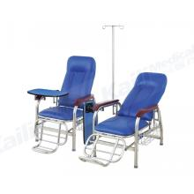 Manual Hospital Transfusion Chair Infusion Recliner Stainless Steel