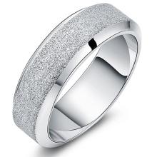 Koreanische Art und Weise einfache matte Ringe Mens Rings Herrenschmuck