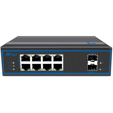10-porters full gigabit obegränsad industriell ingen-PoE-switch