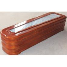 Alta qualidade caixão com vidro para promoção (limitada)
