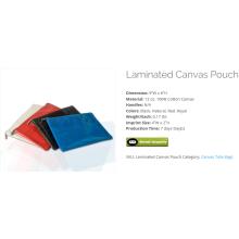 canvas purse...