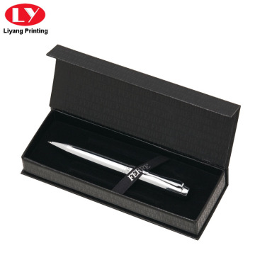 Magnet Close Single Black Pen Box