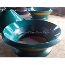Pièces de concasseur à cône en acier au manganèse pour l'industrie minière