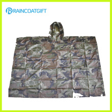 Polyester Army Camouflage Regenmantel Rpy-001