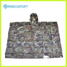 Polyester Armee Camouflage Regenjacke Rpy-001