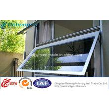 Fenêtre d'auvent en aluminium de prix d'usine de la Chine
