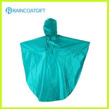 Poncho de la lluvia de la PU del poliéster de la resistencia al agua Rpy-066