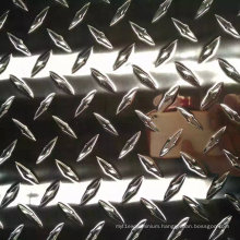 Diamond Pattern Polished Aluminium Plate