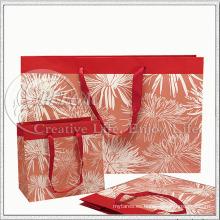 Bolsa de papel de diseño floral para recuerdos de regalos (KG-PB039)