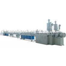 Linha de extrusão de tubo de gás / água HDPE (máquina de plástico)