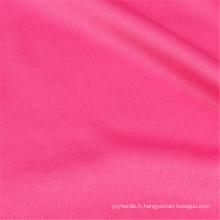 Tissus extensibles tricotés en fil 100% polyester Spandex teints