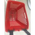 Luxury Supermarket Plastic Shopping Basket with Wheels