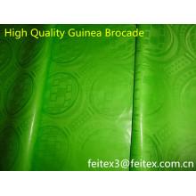 Наличии супер качество Гвинея парчи Базен riche 10 метров/мешок лимон зеленый цвет мягкий парфюм продажа жаккарда текстиль