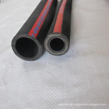 Gewundene Schicht-schwarzer synthetischer Gummi-hydraulischer Schlauch R9