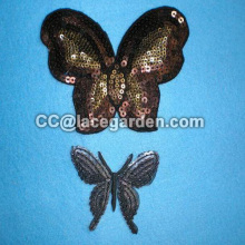 Lively Butterfly Design Sequin Embroidery Patches