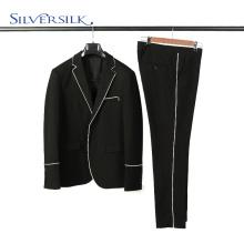 2 pièces pantalons costumes ensemble hommes blazer noir