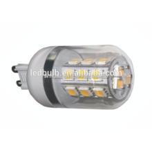Haute qualité CE et ROHS en céramique 5050 SMD G9 lampe LED 10W avec housse en silicone, 3 ans de garantie