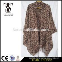 leopard printed custom printed bulk scarves wholesale cotton acrylic scarves