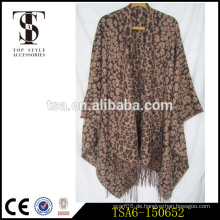 Leopard gedruckte benutzerdefinierte gedruckte Bulk Schals Großhandel Baumwolle Acryl Schals