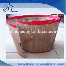 Brown stable quality PTFE fiberglass mesh conveyor belt