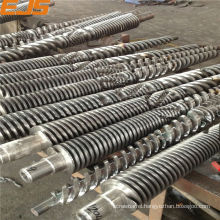 bimetallic or nitrided conical or parallel extruder tempering screw barrel