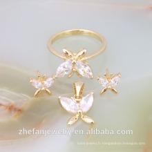 bijoux de mariage en gros or blanc bijoux ensembles bijoux en or italien demi-ensembles bijoux plaqués rhodium est votre bon choix