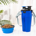 Pet Going out Two Water Food Cup Portable Water Cup Dog Water Cup Folding Dog Food Bowl