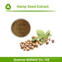Polvo de extracto de semilla de cáñamo natural puro 10: 1