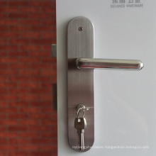 High quality Stainless steel door locks entery timber dpor handle with plate