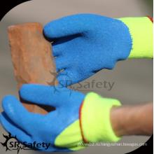 SRSAFETY 3/4 покрытая перчатка из латекса зигзага с покрытием или дешевая цена / акриловые подгузники с латексными перчатками