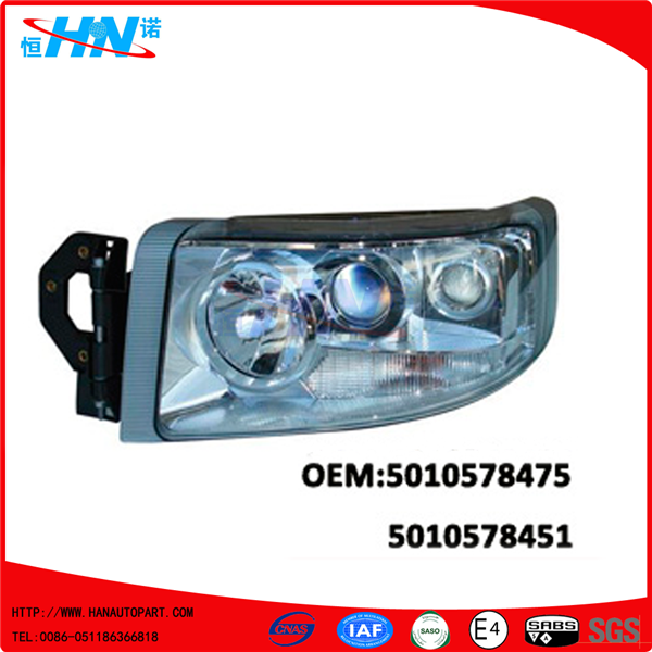 Premium Headlamp 5010578475 5010578451 Trucks Body Parts