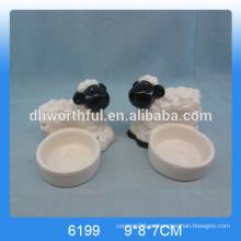 2016 lovey cerámica animal tealight candelabro en la venta al por mayor de ovejas