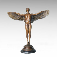 Statue mythologique Soleil montante Bronze Sculpture TPE-146