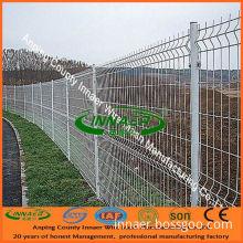 V Shape Wire Mesh Fence (white color)