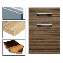 Laminado Woodgrain MDF Cabinet Portas com borda Banding (zhuv)