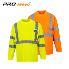 clear reflective tape long sleeve  t shirt wholesale