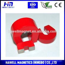 Hot sale Alnico U Shape/horseshoe shape magnet red paint