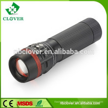 1W LED promocional mini zoom de alumínio levou lanterna