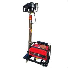 Передвижная световая вышка на колесах с дизельным генератором