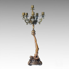 Candle Holder Statue Girl Chandelier Bronze Sculpture Tpch-049
