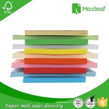 Papel de tamanho múltiplo de tamanho 185GSM A4 para o saco de papel e o arquivo dobrável