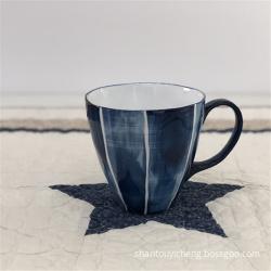Hand painted ceramic stoneware tableware mug