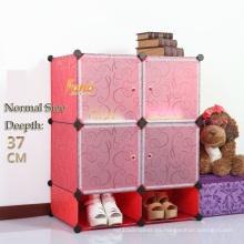 Cbinet plástico rojo del almacenamiento de DIY con muchos colores disponibles (FH-AL0518-4)