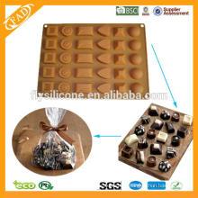 Популярные Maffin торт формы рождественские силиконовые формы для шоколада