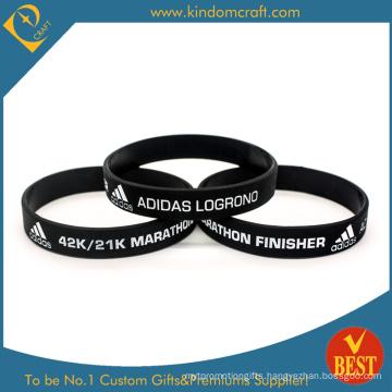 Promotional Black Marathon Silicone Wristband (LN-025)