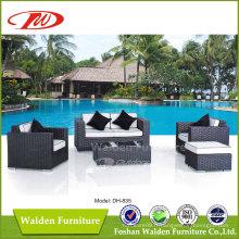 Meubles de jardin, Ensemble inclinable en rotin (DH-835)