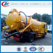 China quente e famoso marca 4000liters caminhão de limpeza de esgoto