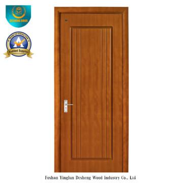 Puerta de diseño moderno HDF para habitación con color marrón (ds-081)