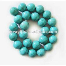 16MM Круглый бирюзовый драгоценный камень бисер