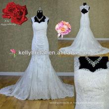 Vestido de noiva de sereia com renda quente